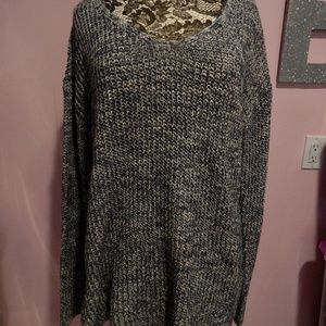 Staccato Navy and White Sweater Size XXL